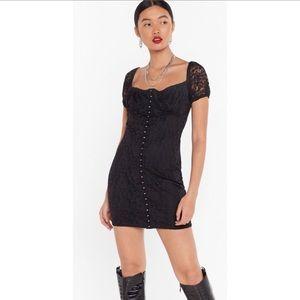 Nasty Gal   Lace Just Do It Hook & Eye Mini Dress